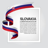 Slovakien abstrakt våg flagga band vektor