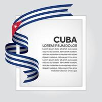 Kuba abstraktes Wellenflaggenband vektor