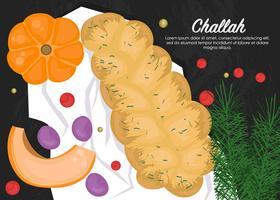 Köstliches Challah-Brot vektor