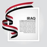 Irak abstrakt vågflaggaband vektor