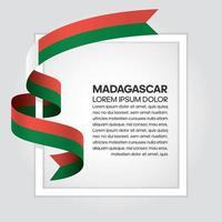 madagaskar abstrakt våg flagga band vektor
