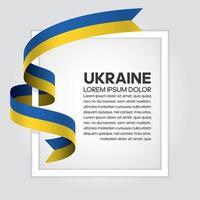 ukraine abstrakt våg flagga band vektor