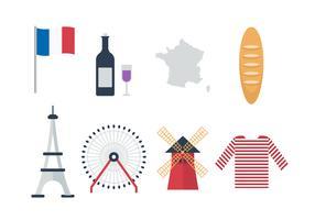 Kostenlose Frankreich-Vektor-Icons vektor
