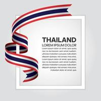 Thailand abstrakte Welle Flagge Band