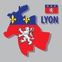 Lyon Karte vektor