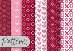 Valentinstag-Muster-Set vektor