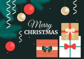 Freie flache Weihnachtsvektor-Elemente
