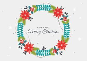 Freier vektorweihnachtskranz