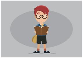 Freier Bücherwurm-Charakter-Vektor