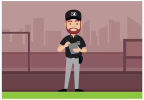 Kostenlos Baseball Schiedsrichter Charakter Vektor
