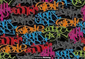 Vektor-Graffiti-Kunst-NAHTLOSES Muster vektor