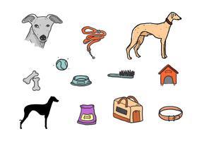 Whippet Hund Symbol