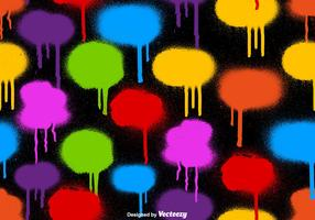 Vektor SEAMLESS PATTERN Of Graffiti Spray Paint Drips