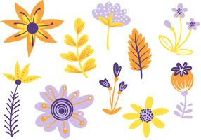 Kostenlose einfache Blumen 2 Vektoren