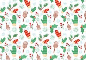 Kostenlose Winter Muster Vektoren