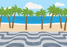 copacabana stranden vektor