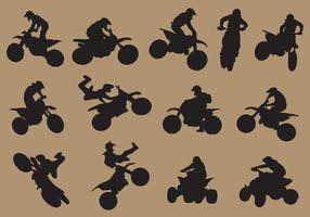 Dirtbike Sport Silhouetten