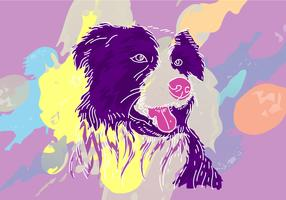 Kostenlose Border-Collie-Vektor-Illustration