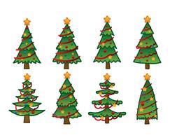 Tecknad julgran handritning vektor