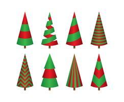 tecknad julgran enkel vektor