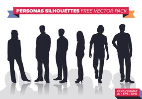 Personas Silhouetten Kostenloses Vektor-Pack vektor