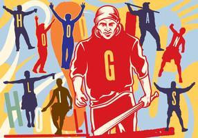 Hooligans-Schattenbild Illustration vektor