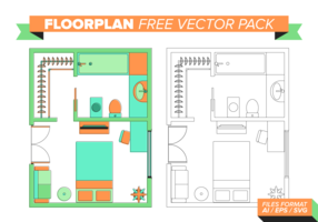 Golvplan Gratis Vector Pack