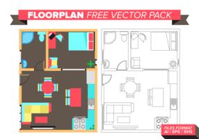 Floorplan-freies Vektor-Paket vektor