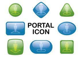 Portal-Schaltfläche vektor
