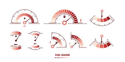 Bränslemätare Vektor Illustrationer