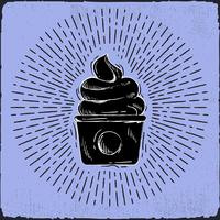 Hand gezeichnete Vektor-Kuchen-Illustration vektor