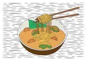 Hand gezeichnete Vektor-Lebensmittel-Illustration vektor