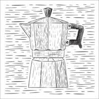 Handdragen vektor kaffe illustration