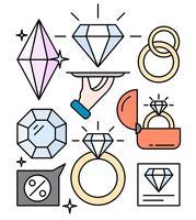Linjär Smycken Shop vektor
