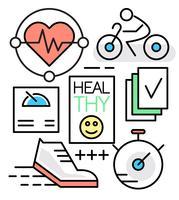 Linearer gesunder Lebensstil vektor