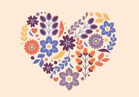 Vektor-Valentinstag-Blumen-Illustration