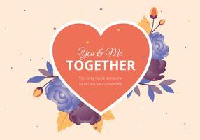 Alla hjärtans dag vektor hälsningskort