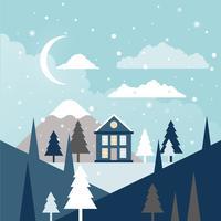 Vektor-Winter-Landschaftsillustration vektor