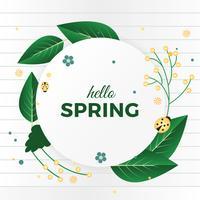 Schöne Frühlings-Vektor-Grußkarte vektor