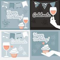 Vektor firande kort