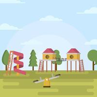 Flache Spielhaus-Vektor-Illustration