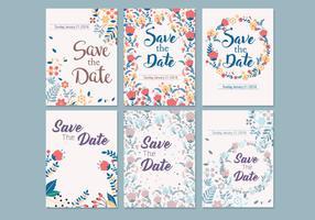 Bröllop spara datummallen vektor