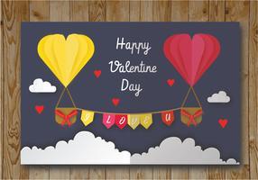 Valentinskarte Vektor-Design vektor