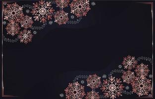 Roségold Schneeflocken Hintergrund vektor
