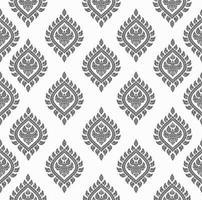 nahtloses Muster der thailändischen Kunst vektor