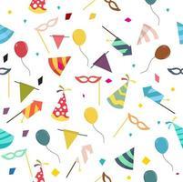sömlösa mönster av fest och karneval element vektor