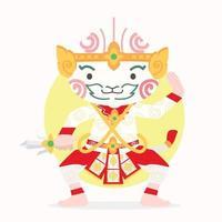 Cartoon Hanuman Thai Charakter vektor