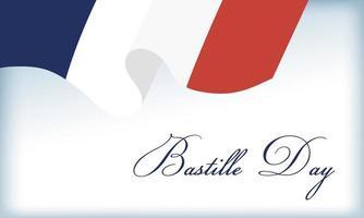 Bastille-Tagesfeier mit französischer Flagge