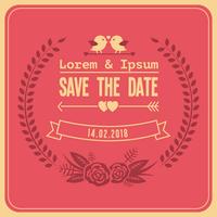 Gratis bröllop spara datumvektorn vektor