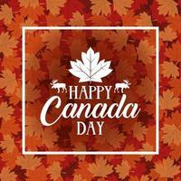 glad Kanada dag firande banner med lönnlöv